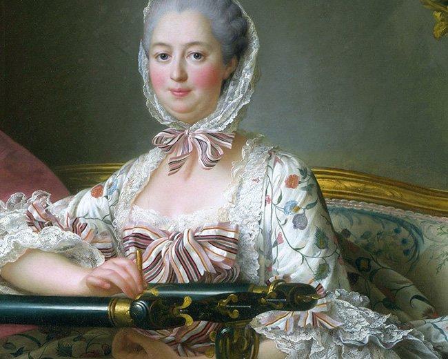 Mme de Pompadour à son métier à broder- François-Hubert Drouais (1763)