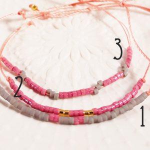 Bracelet Quartz rose - 1 à 3 - La Géante