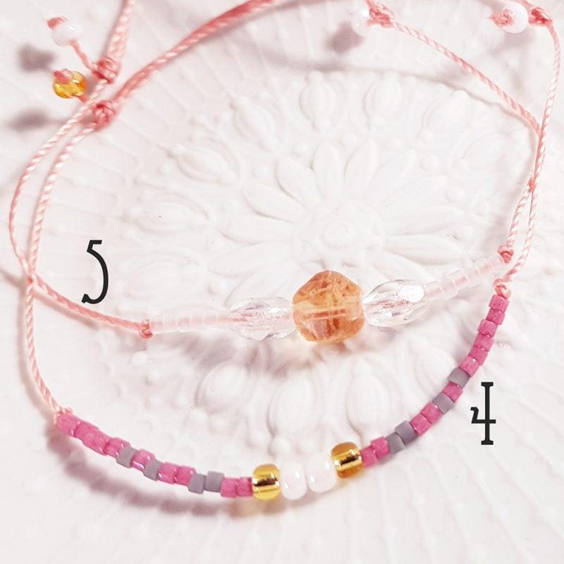 Bracelet Quartz rose - 4 & 5 - La Géante