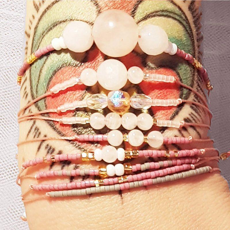 Bracelet Quartz rose - La Géante